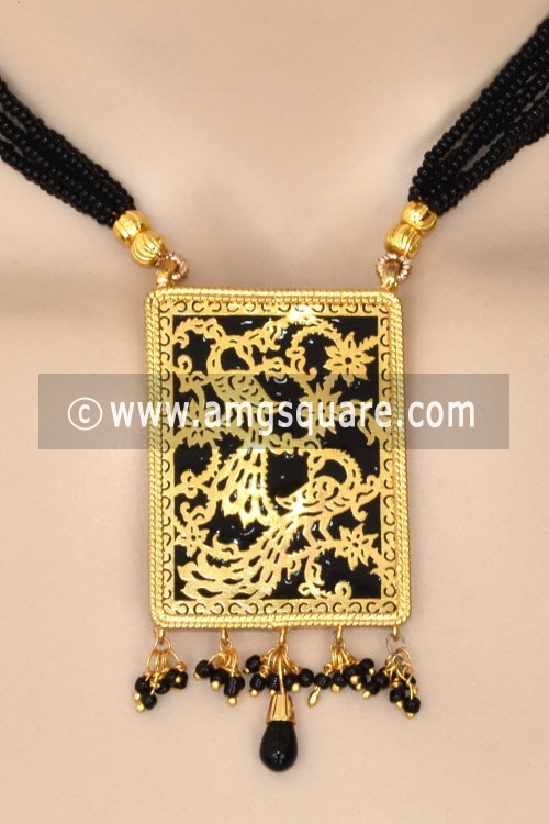 Black Traditional Thewa Pendant Set 11274