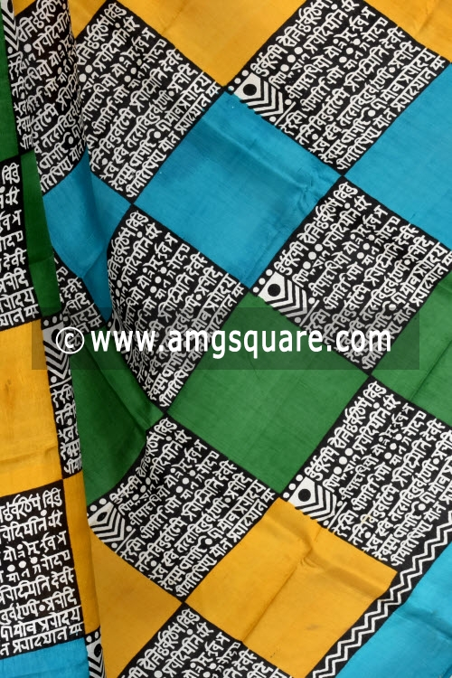 Pherozi Blue Handloom Pure Silk Saree (With Blouse) 17274