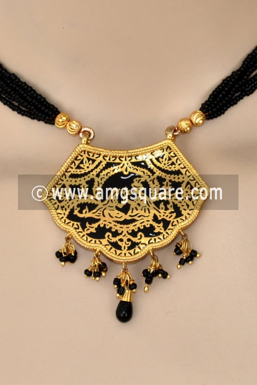 Black Traditional Thewa Pendant Set 11275