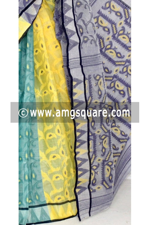 3D Designer Handwoven Bengal Tant Cotton Saree (Without Blouse) 13999